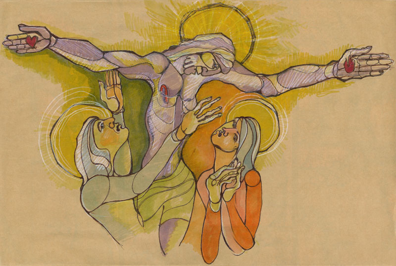 Artwork by Gary Gaede (Inspired by the stained glass alter piece at Blue Cloud Abbey)