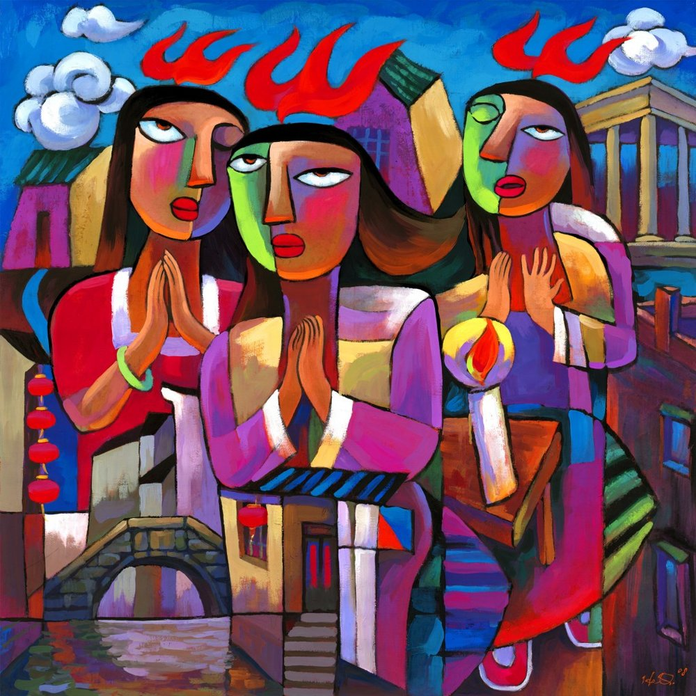 Holy Spirit Coming by He Qi, 2013