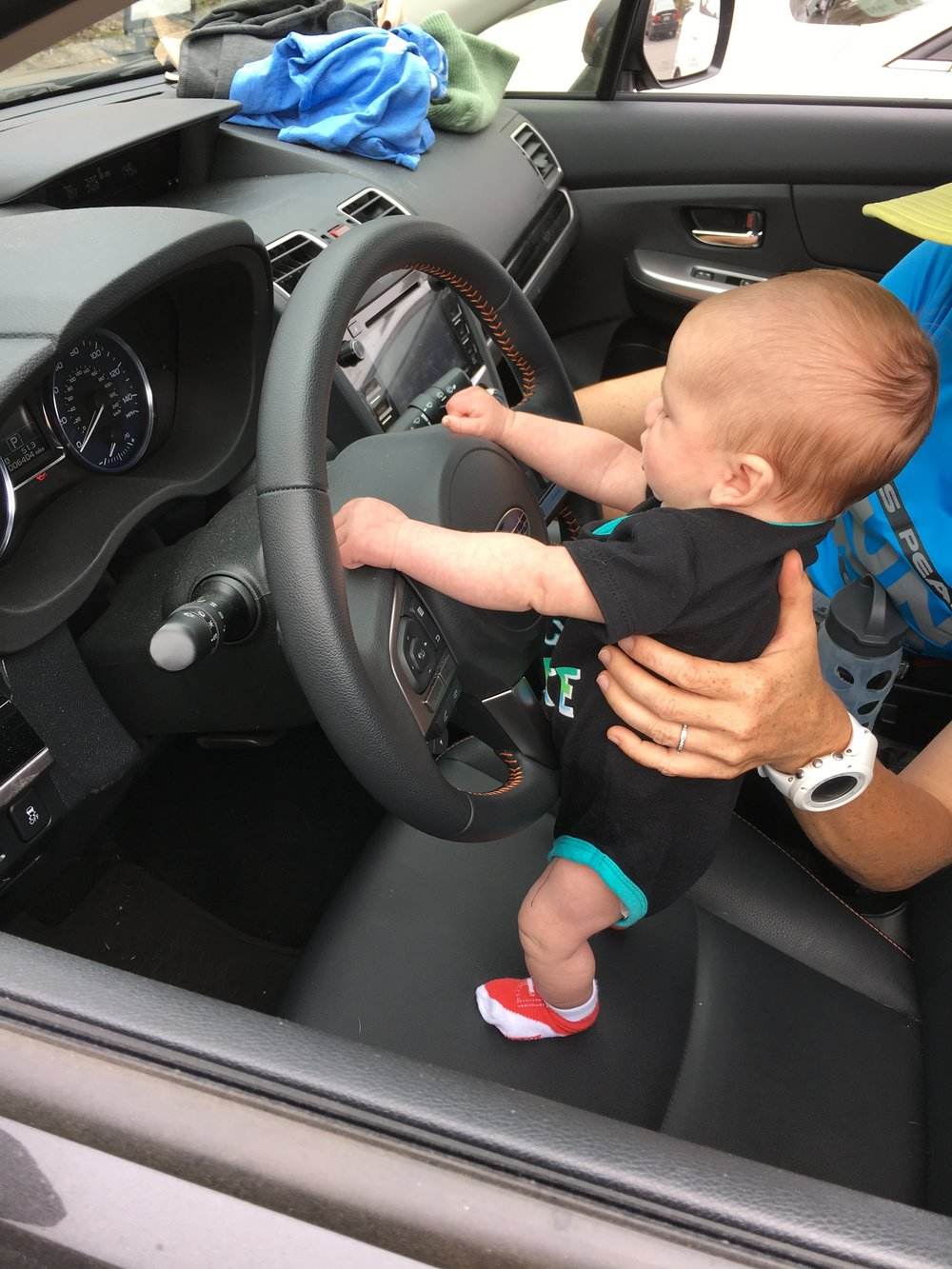 His obsession with driving started at a young age.