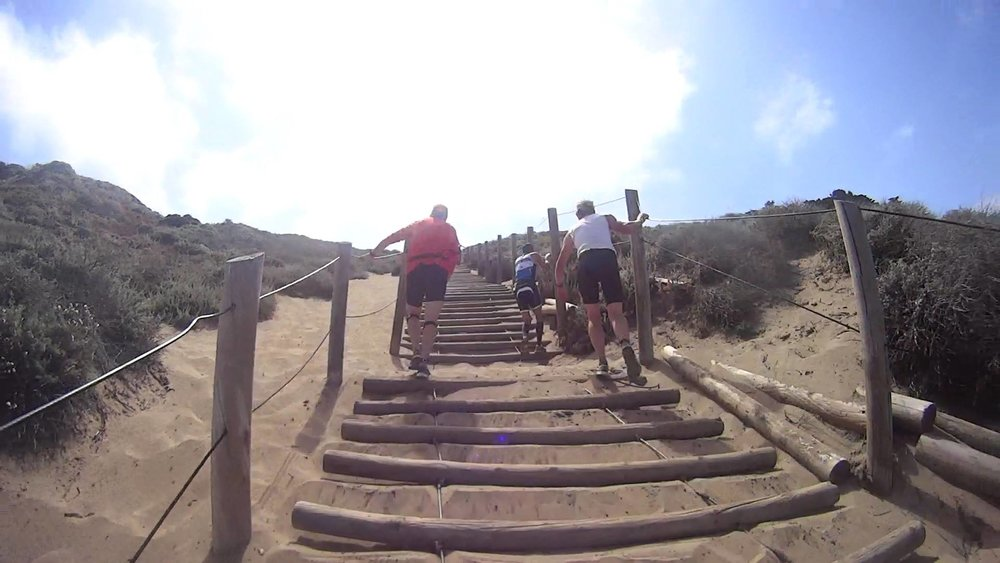 The Sand Ladder: toughest part of the run