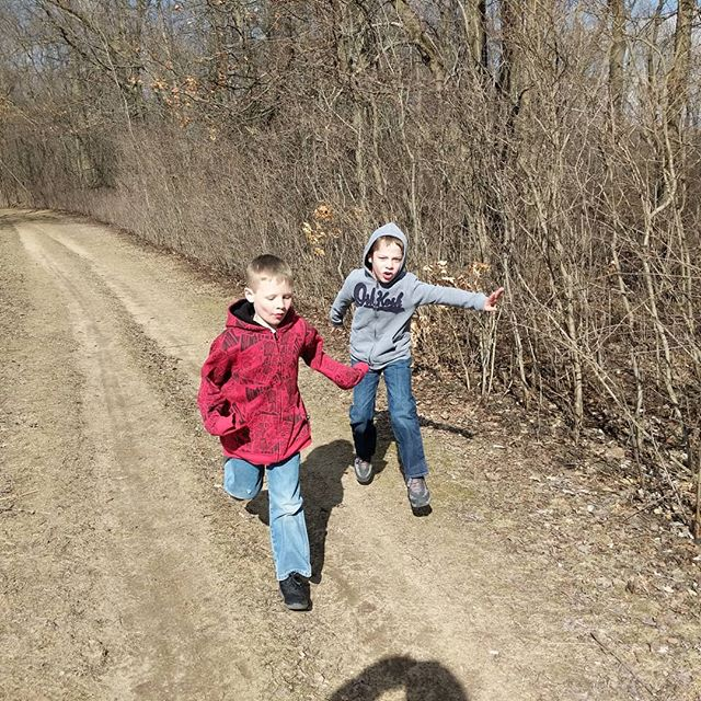 Sometimes it's hard to push myself and the family out of the house but I've never pushed out to a hike and regretted it.  #hike #boysinwoods  #bringonspring  #noregretts