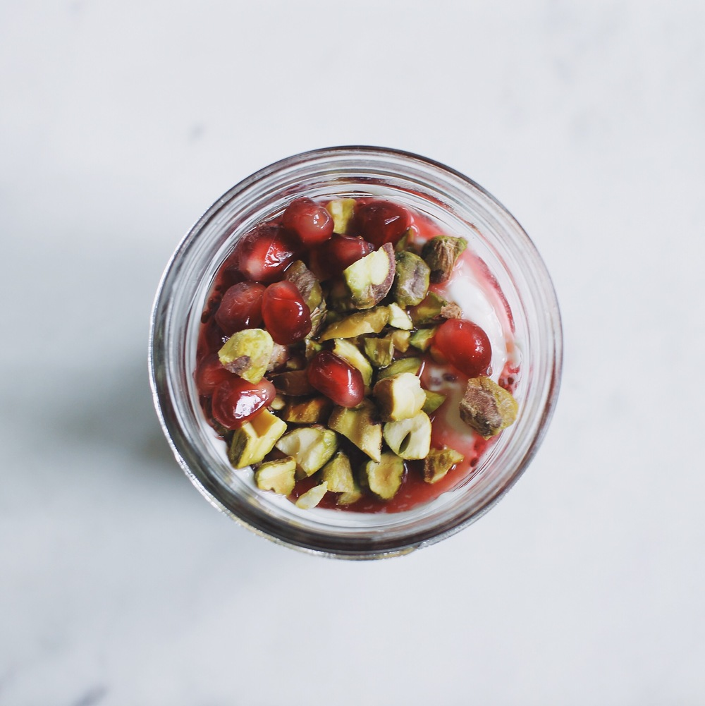 Pomegranate-Chia Seed Yogurt Parfait