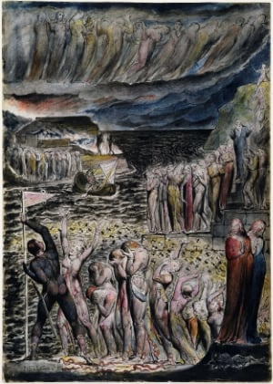 Dante's vestibule, according to Blake (Wikipedia Commons)