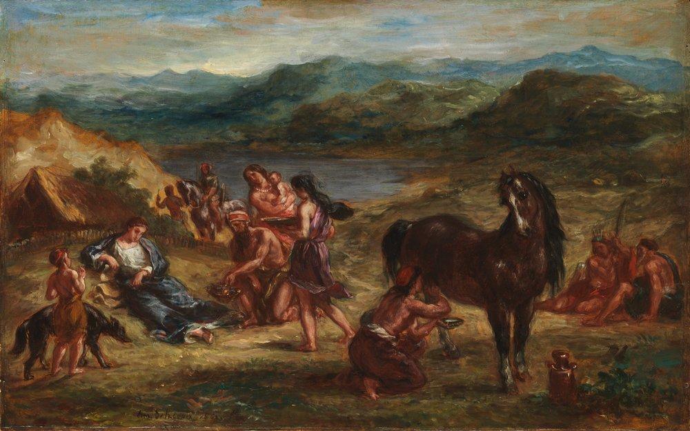 Eugène Delacroix, Ovid Among the Scythians