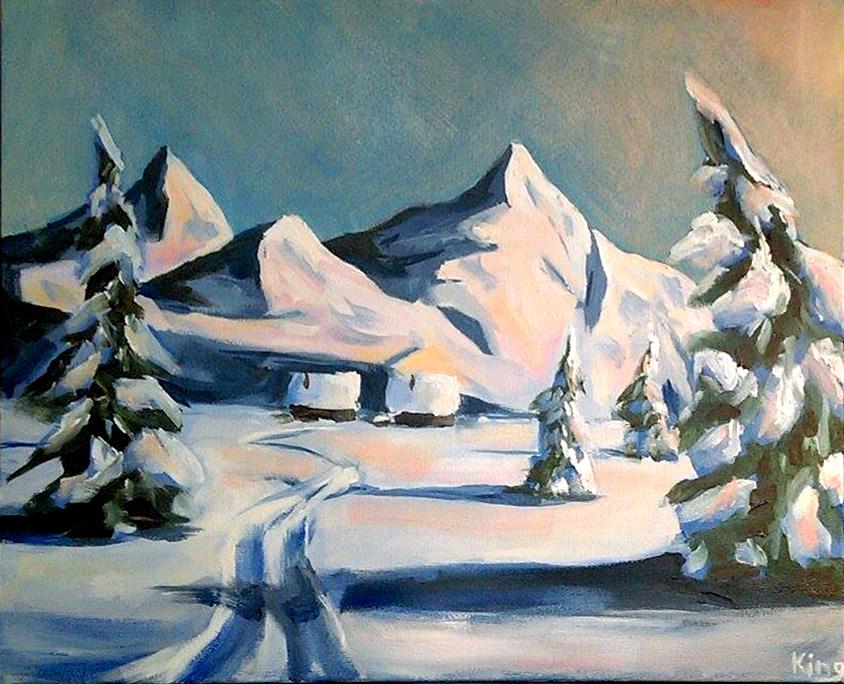 Snowscape study