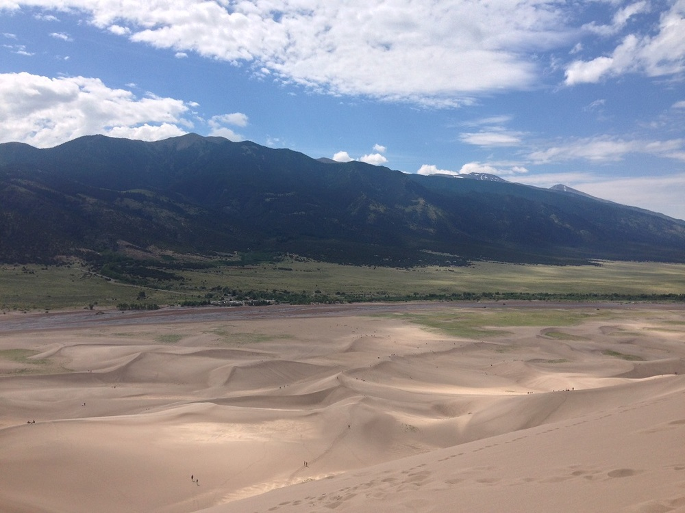 Looking across the sand dunes from the highest point.