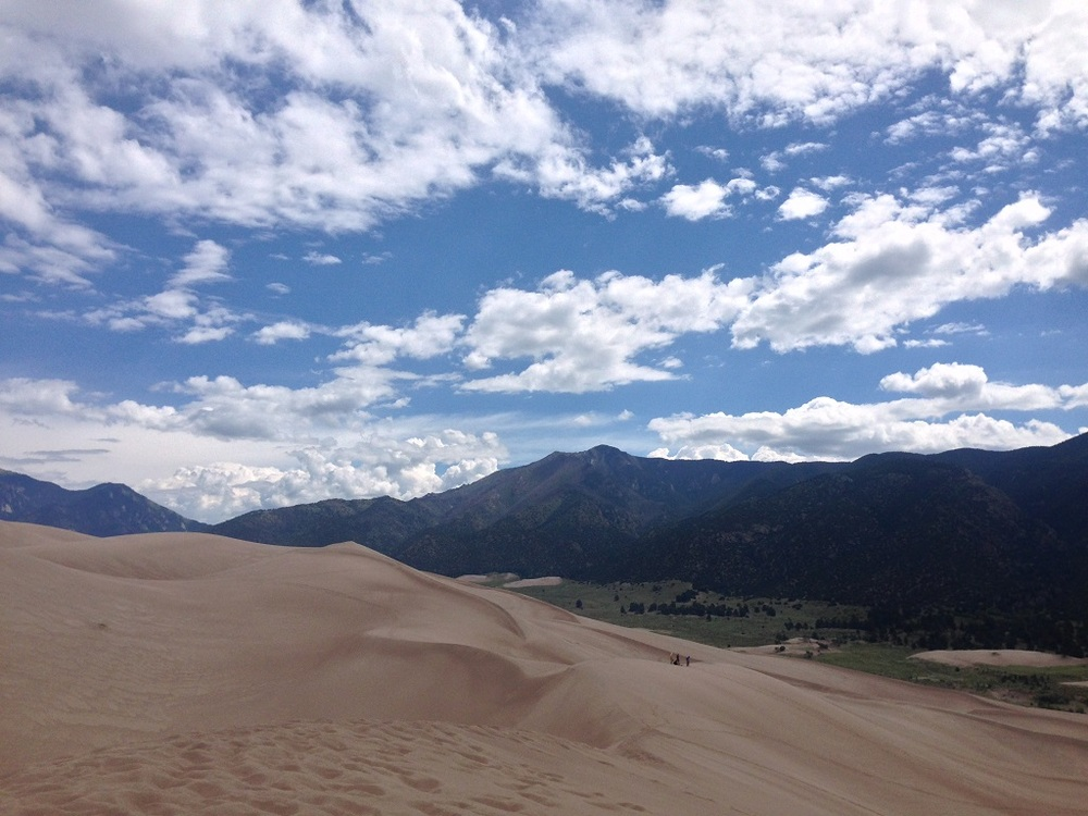 Another mountainous view from atop the dunes.