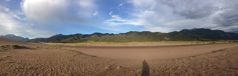 Panoramic view from the dunes.