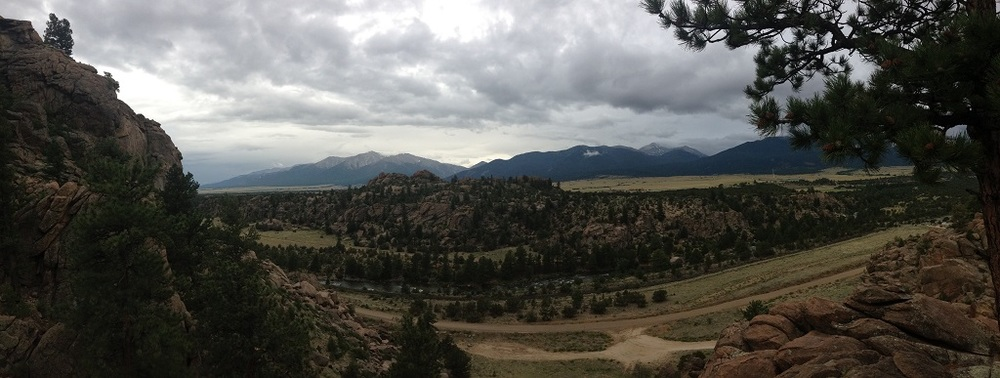 Panoramic view from our camping location - Four Mile.