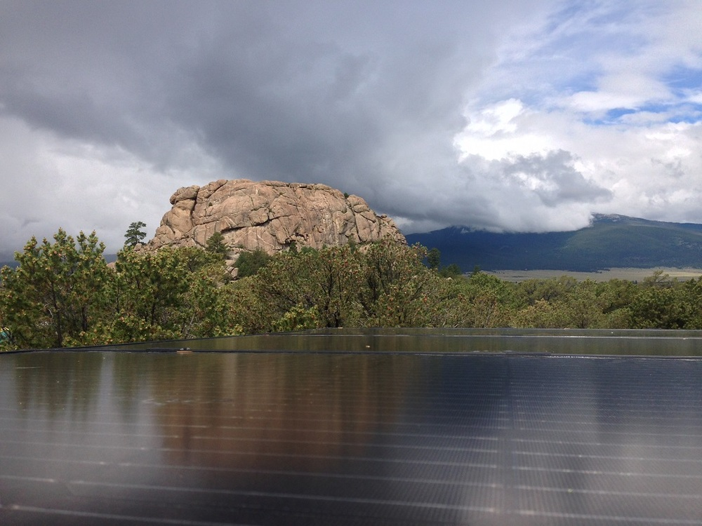 Big rock view from the solar roof.