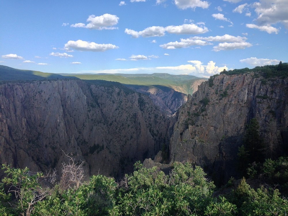 View looking into the canyon.