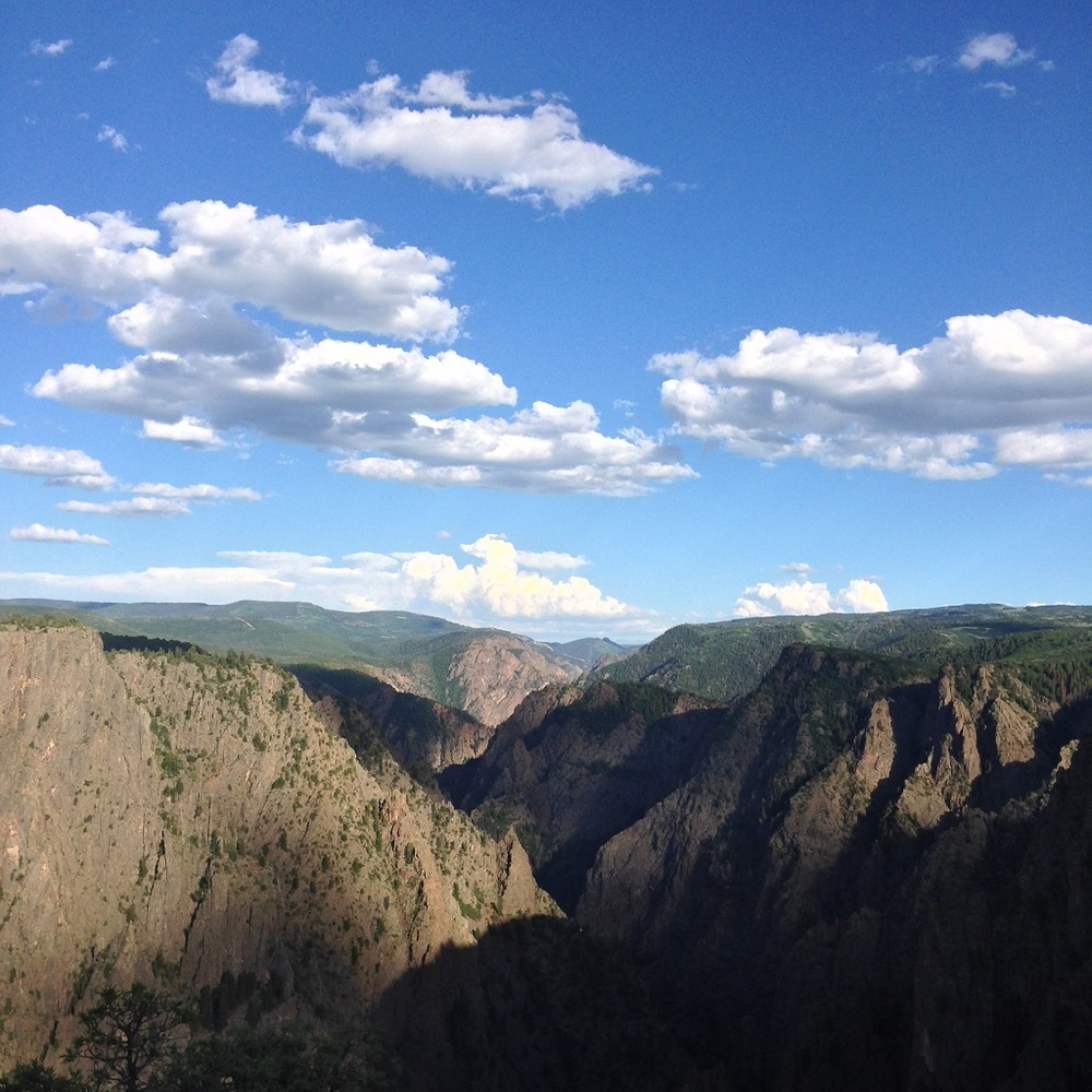 Heart shadow appears over Black Canyon National Park.
