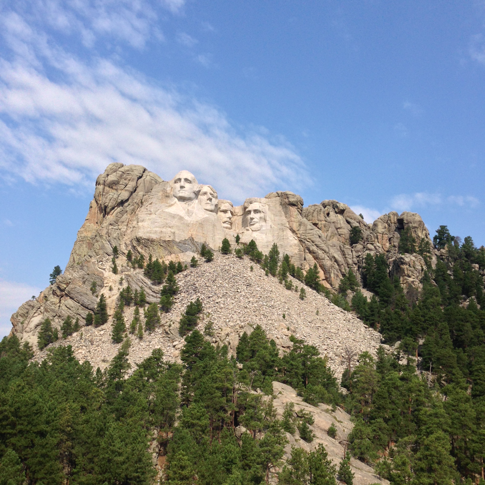 Mount Rushmore is is 5,725 feet (1,745 m) above sea level.