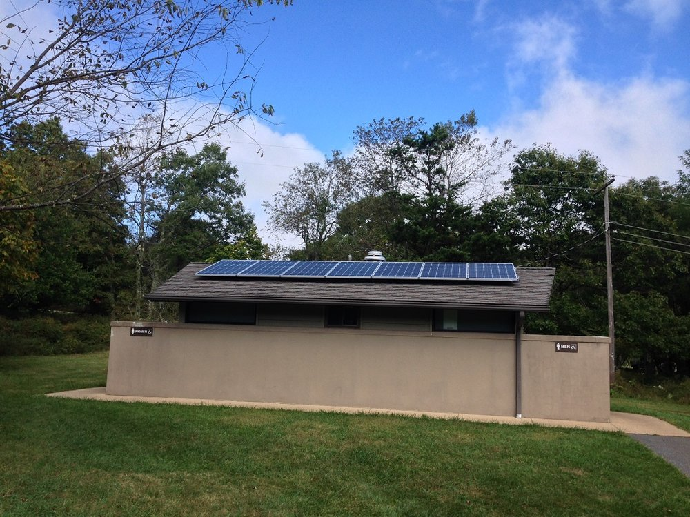 Shenandoah National Park solar powered bathroom