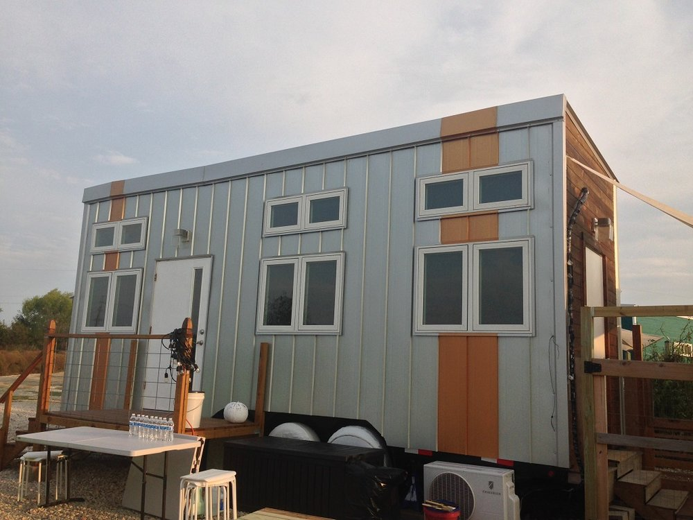 The Modernist is a tiny house available for rent and for sale at Austin Live|Work.
