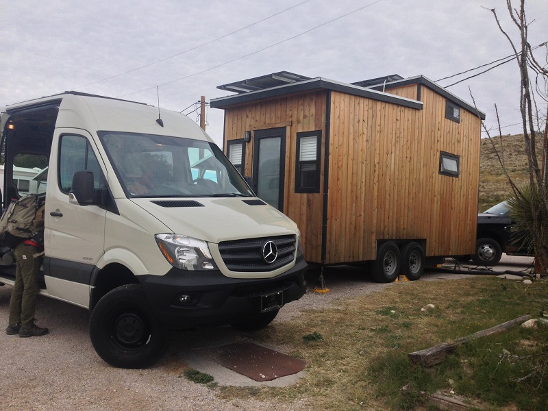 Tiny Solar House meets Sprinter van
