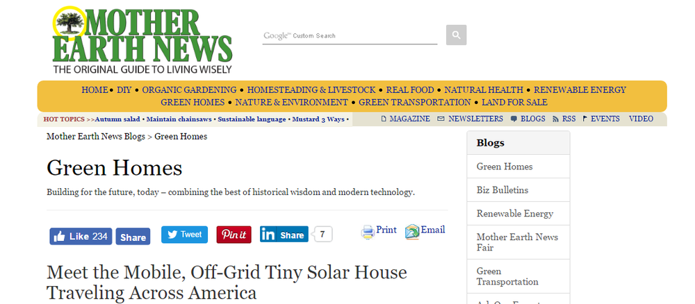 Tiny Solar House Feature Mother Earth News