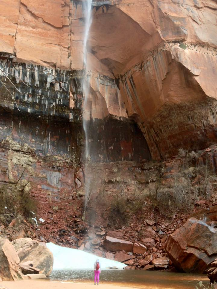 Hunting waterfalls at Zion.