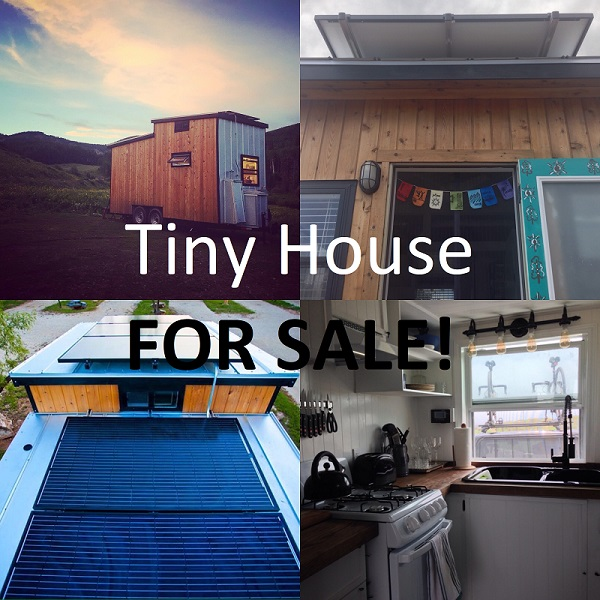 The Tiny Solar House is for sale, scroll down to learn more about buying this tiny house on wheels.