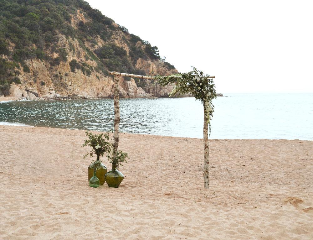 Boda en la playa, costa brava, bodas de cuento