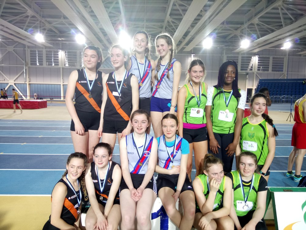 Girls U15 Relay Podium - Abbotstown Feb2017.JPG