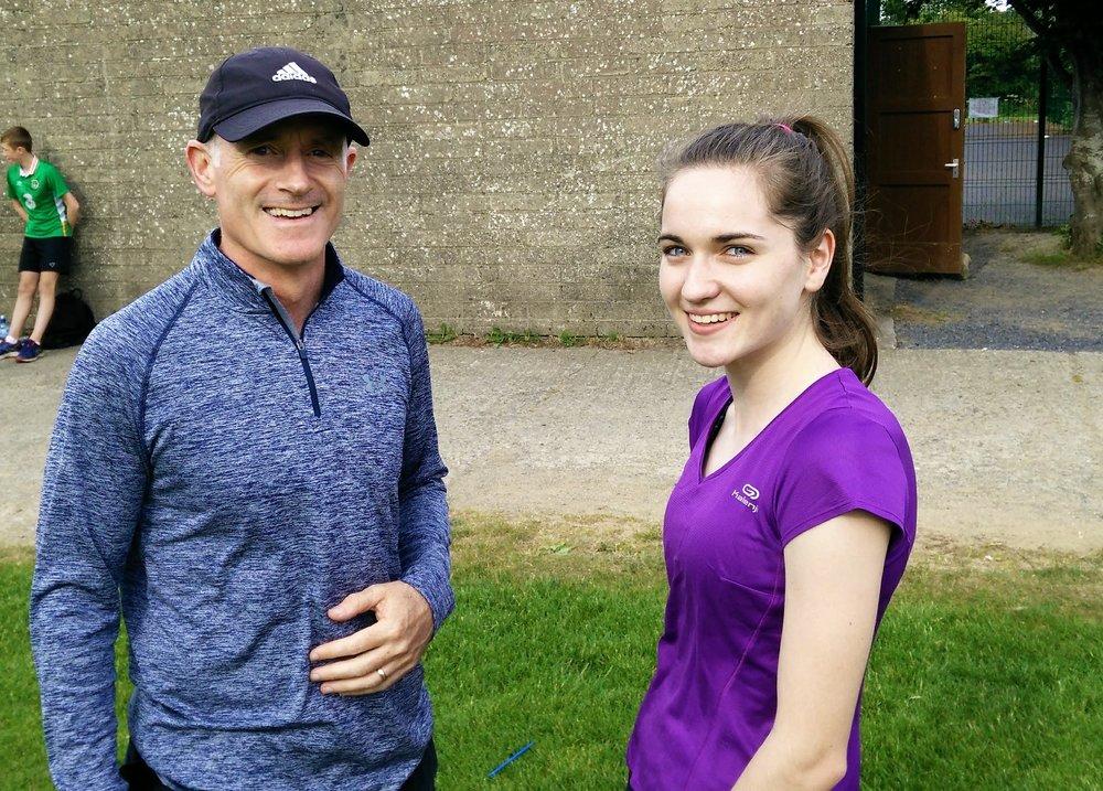 Donal coaching Sophie Murphy