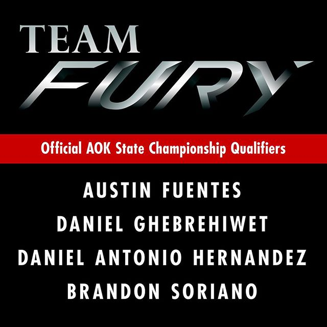 The entire team has been invited to compete at the AOK State Championships!  Throughout the year, our members have accumulated points from every tournament attended. Only the top 5 competitors of the bracket, from each of the 4 regions of Texas, are allowed to compete for the chance to become State Champion. State finals will take place in Austin, Texas on December 19.  We will train harder than ever these next few weeks in order to prepare.  Let's finish the year strong and bring home the gold! 🏅  #TeamFury #Megafighters #SorianDo #MartialArts