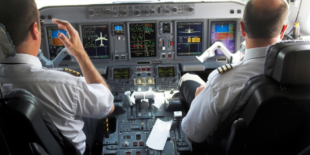 Flight observation during Line Operations Safety Audit.
