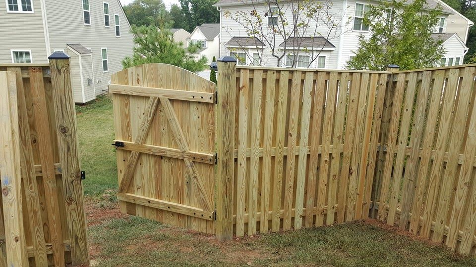 Wood Fence in Columbia - Natural appearance can be customized with stains and paints. The disadvantages are that you will have to maintain them and they have a limited life span.