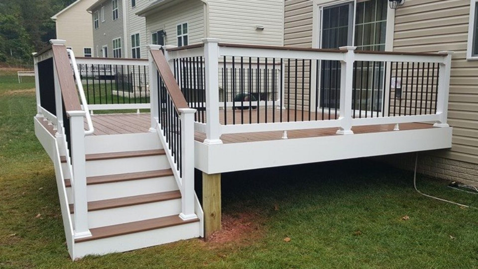 Brown Deck and Black Rails