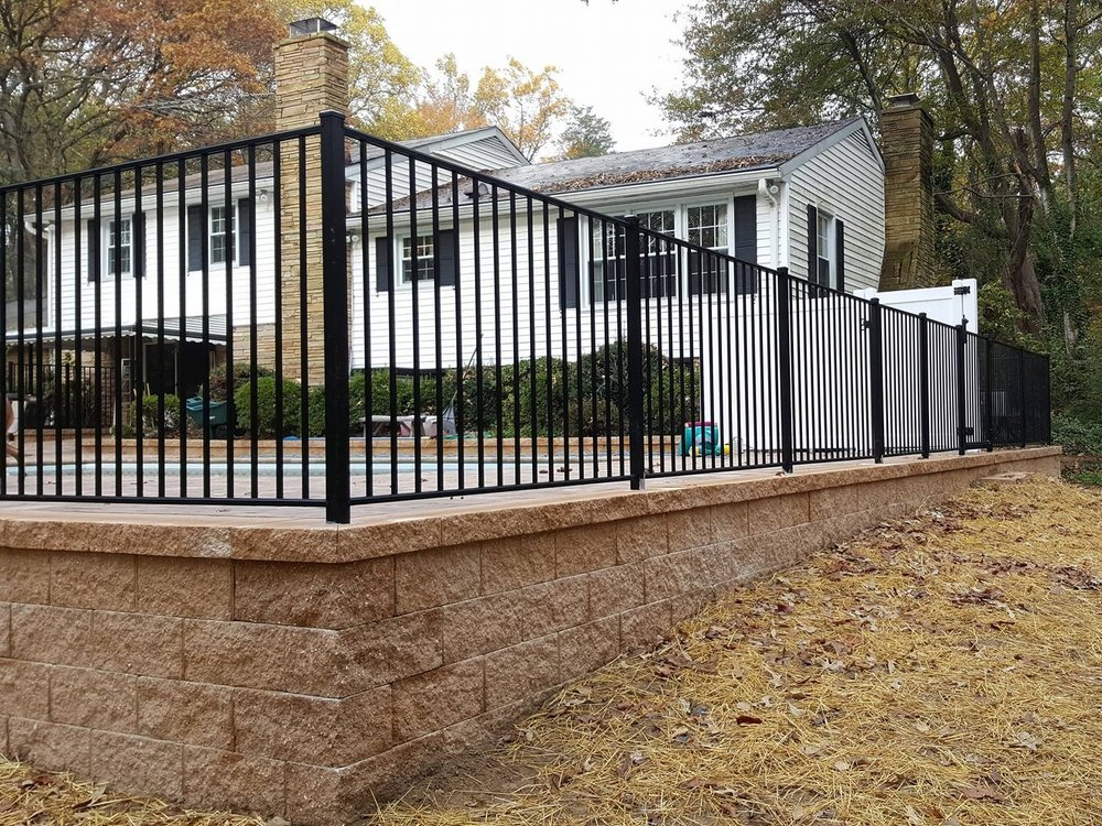 Pool Fence - Black Aluminum