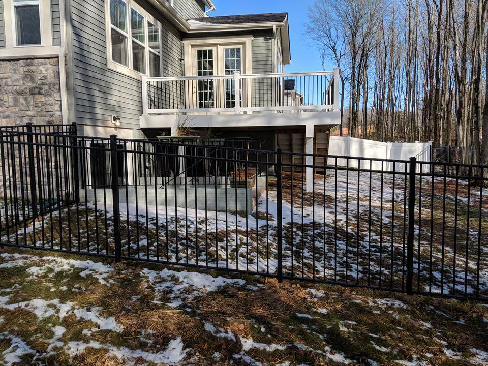 Aluminum Fence - Aluminum fences have an ornamental appearance and require no maintenance. The best part about the ones we offer is that they have a lifetime warranty.