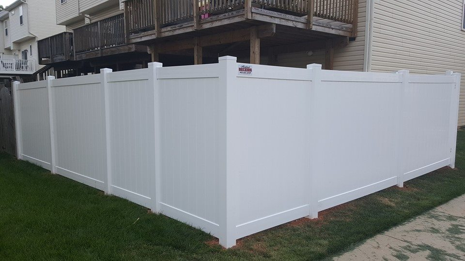 Vinyl (PVC) Fence in Ellicott City - Vinyl fencing does not require painting or sealing and will continue to look good for many years. There are many styles that will match your landscape and give your home a greater curb appeal.