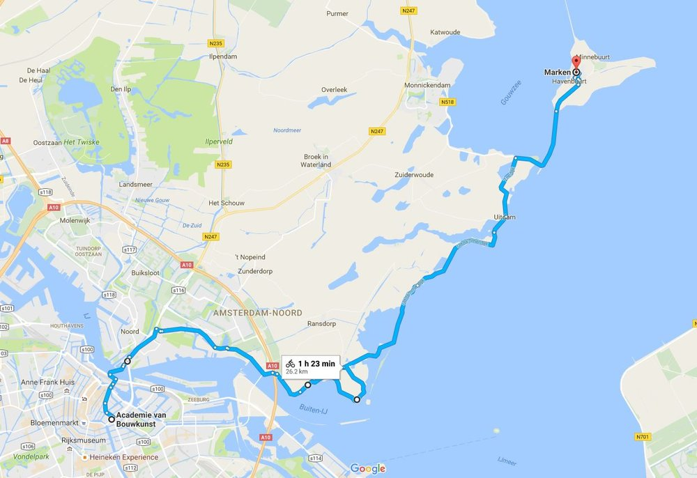 Bike Ride from Amsterdam to Marken