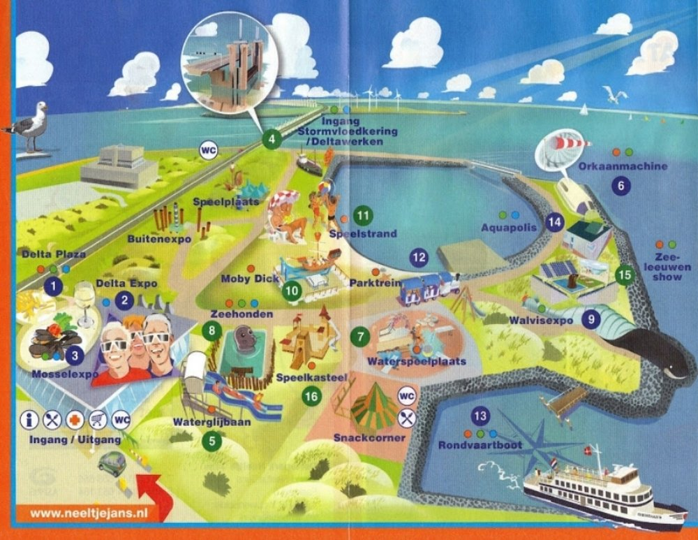 Neeltjejans Delta Park Map: stock photo taken from Google
