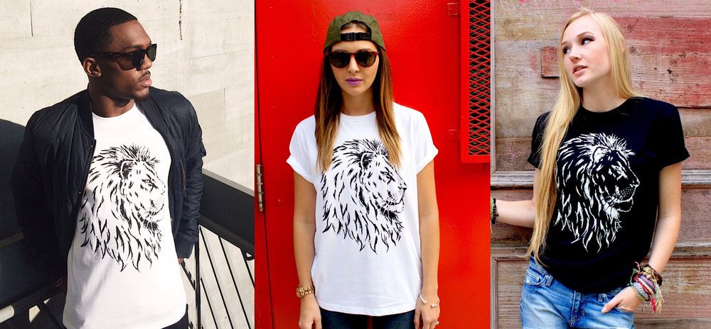 SAVE A LION Unisex tees are eco-friendly, ethically sourced, available in black or white 100% organic cotton, hand silk-screened in non-toxic ink. Order yours today and let's come together to Save Big Cats.