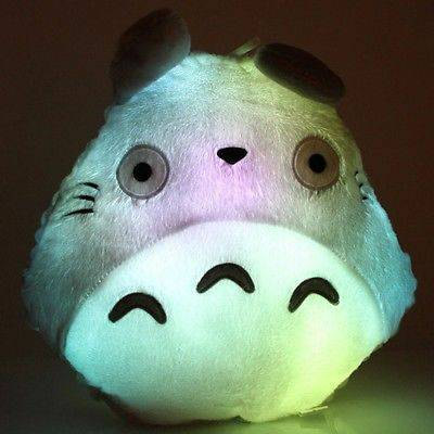 Cute Kawaii Totoro Anime Led Colorful Plush Pillow : Kawaii Totoro Anime LED colorful plush pillow ? Lunaria