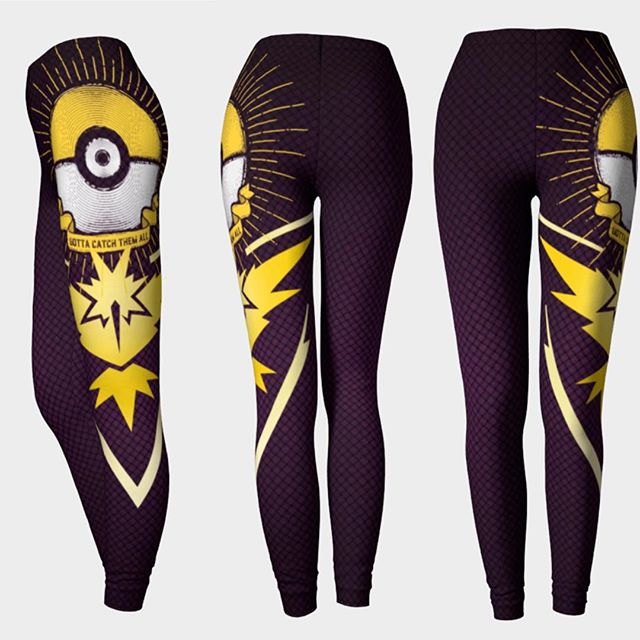Finally here! Team Instinct Inspired Leggings. Share if you represent yellow! These are high quality Eco Poly leggings made here in Canada. Art by @barrettbiggers .. Shop online at www.lunaria.ca #anime #fashion #leggings #3ds #printedleggings #nylons #battlenet #clothing #sdcc #sailormoon #teaminstinct #finalfantasy #cosplay #worldofwarcraft #legendofzelda #leagueoflegends #blackmilk  #playstation #nintendo #studioghibli #kawaii #kawaiilife #pcgaming #fit #pokemon #pokemongo #gamer #gamergirl #twitchtv