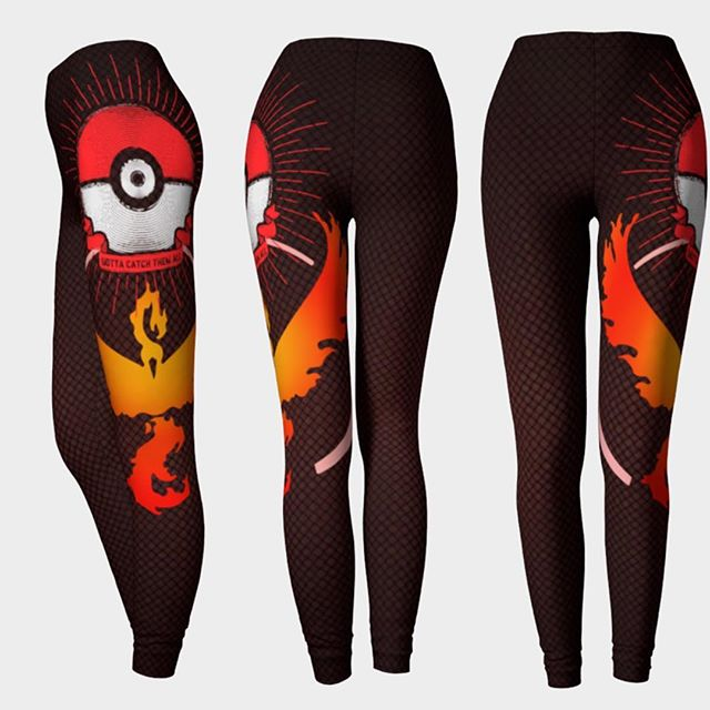 Finally here! Team Valor Inspired Leggings. Share if you represent red! These are high quality Eco Poly leggings made here in Canada. Art by @barrettbiggers .. Shop online at www.lunaria.ca #anime #fashion #leggings #3ds #printedleggings #nylons #battlenet #clothing #sdcc #sailormoon #teamvalor #finalfantasy #cosplay #worldofwarcraft #legendofzelda #leagueoflegends #blackmilk  #playstation #nintendo #studioghibli #kawaii #kawaiilife #pcgaming #fit #pokemon #pokemongo #gamer #gamergirl #twitchtv