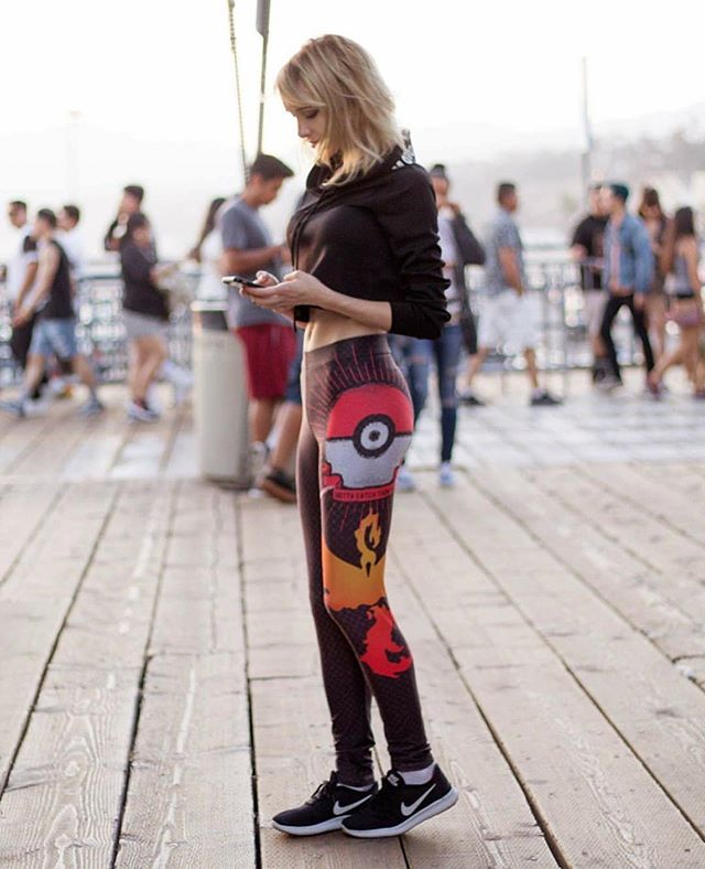 Cosplayer @lyzbrickley wearing our Pokemon Go Valor Leggings. Thanks for sharing love. You can buy Mystic and Valor as well. All made here in Canada. Art by @barrettbiggers ... Shop online at www.lunria.ca