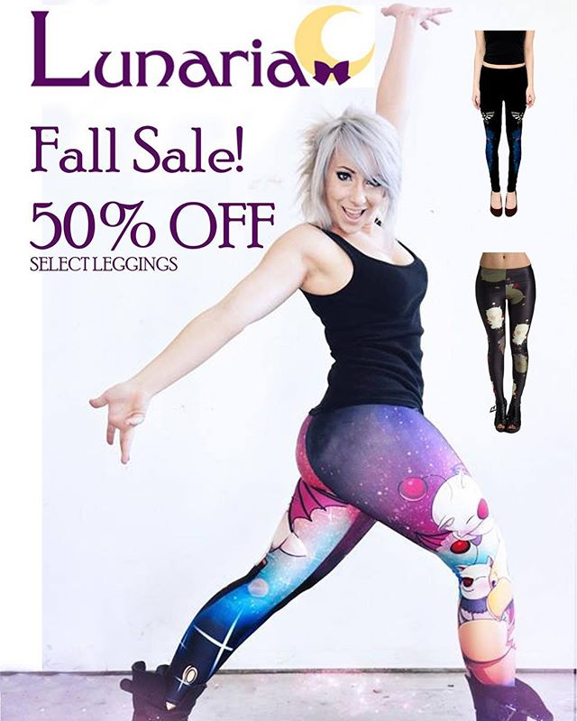 It's been a long time for updates as we have been busy and getting new material in for leggings so we are doing a 50% off sale on selected merchandise! Get them before they are gone! Shop online at www.lunaria.ca