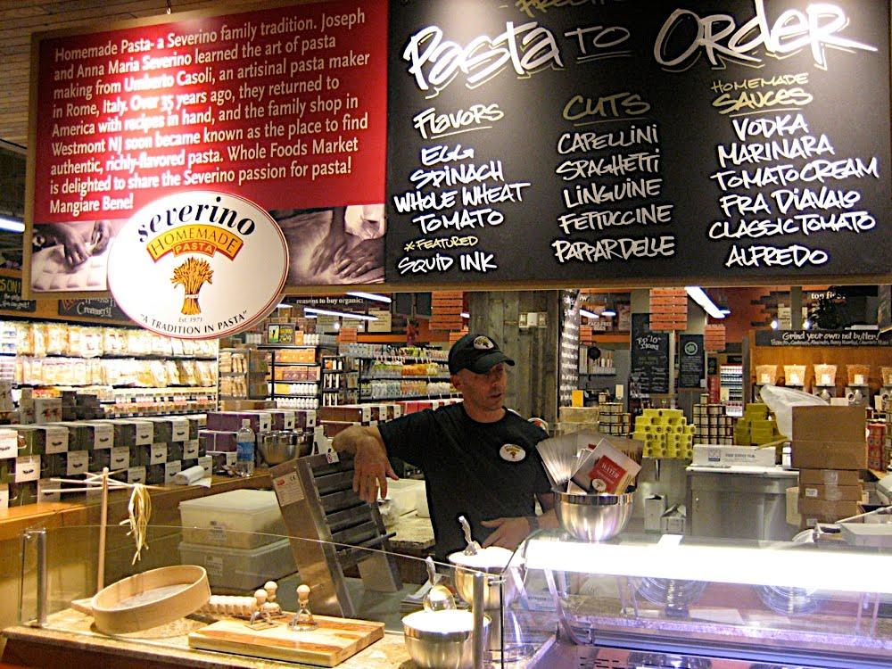 Pete Severino serving up some Severino Homemade Pasta
