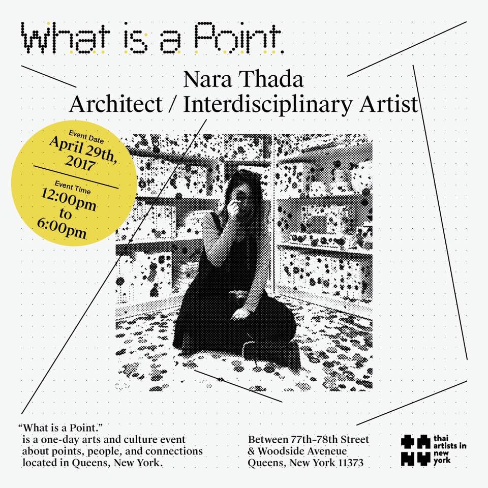 ". o . Is an interactive installation work that will make you question: what is a point? Nara Thada  พบกับ Nara Thada ศิลปินและสถาปนิก กับผลงาน . o . ที่ชวนให้คุณได้สัมผัส, มอง, และค้นหาคำตอบว่า ""What is a Point."""