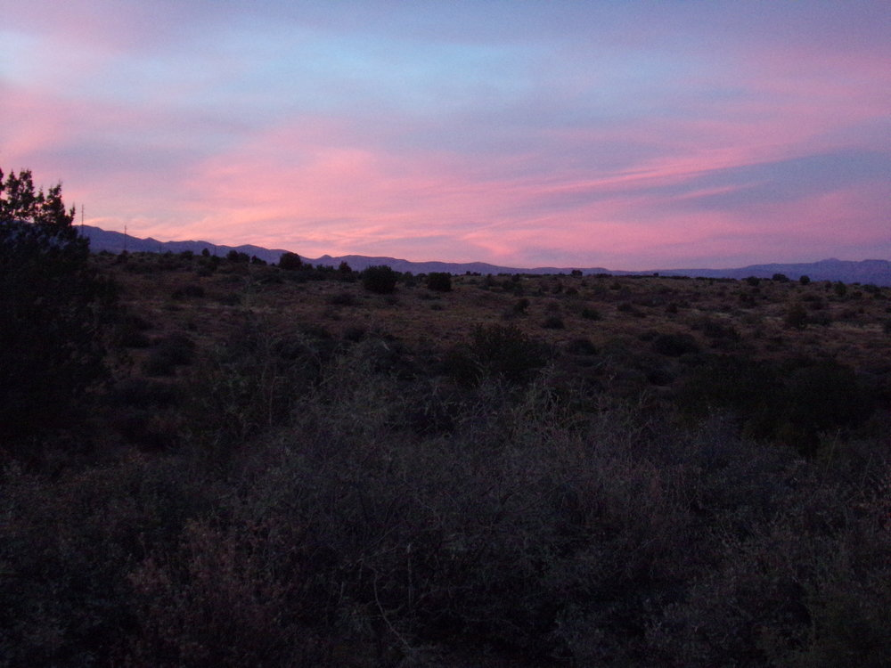 Sunset near Cottonwood