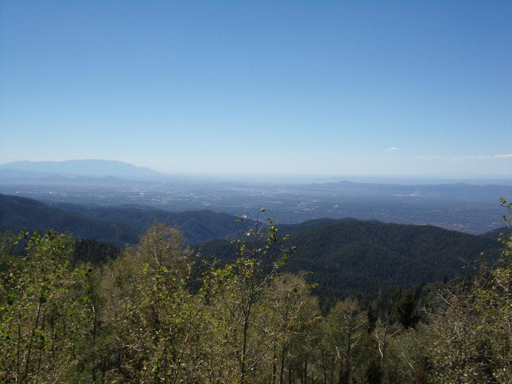 Looking down on Santa Fe