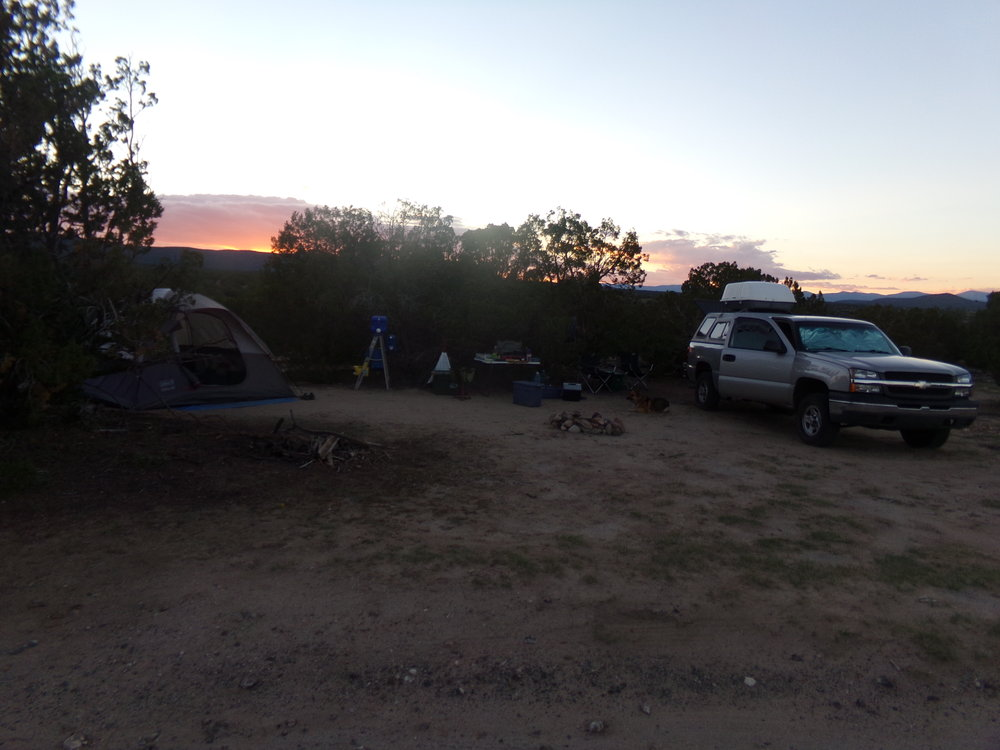 Our camp on the plateau