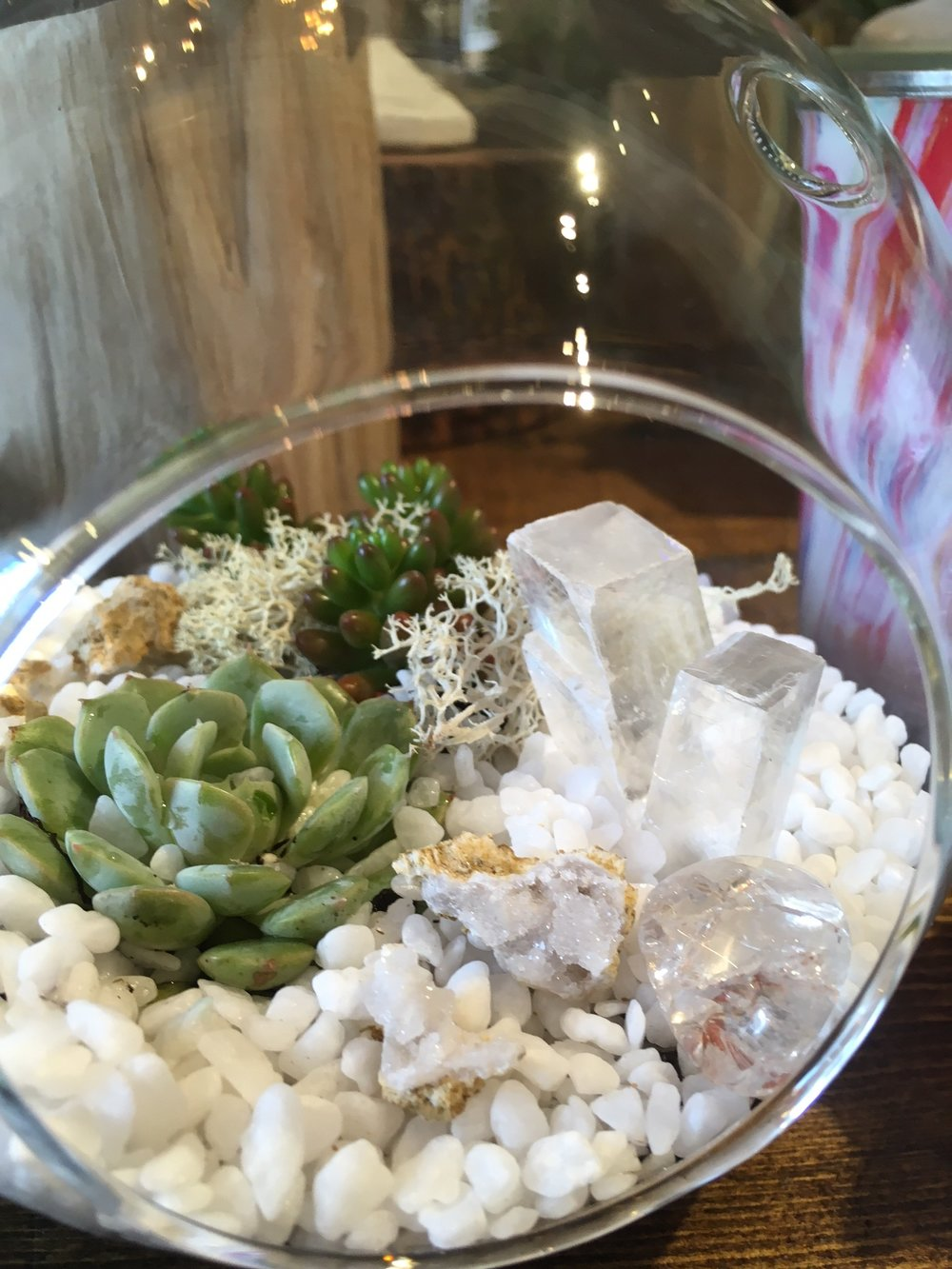 You're a Gem - Starting at $25. This succulent planter features real crystals and geodes, great for a in class teaching moment!