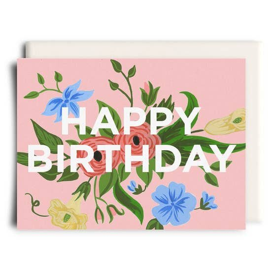 Floral Birthday Card Charmed Flowers Waterloo Florist Buy Flowers Online For Delivery