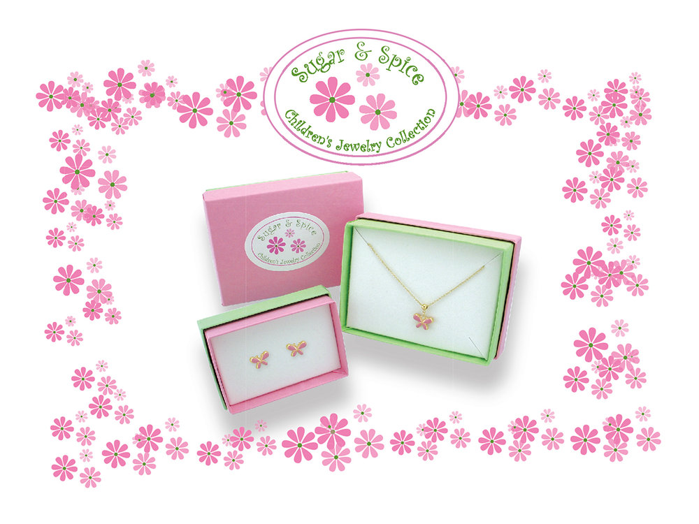 Label for children's jewelry packaging
