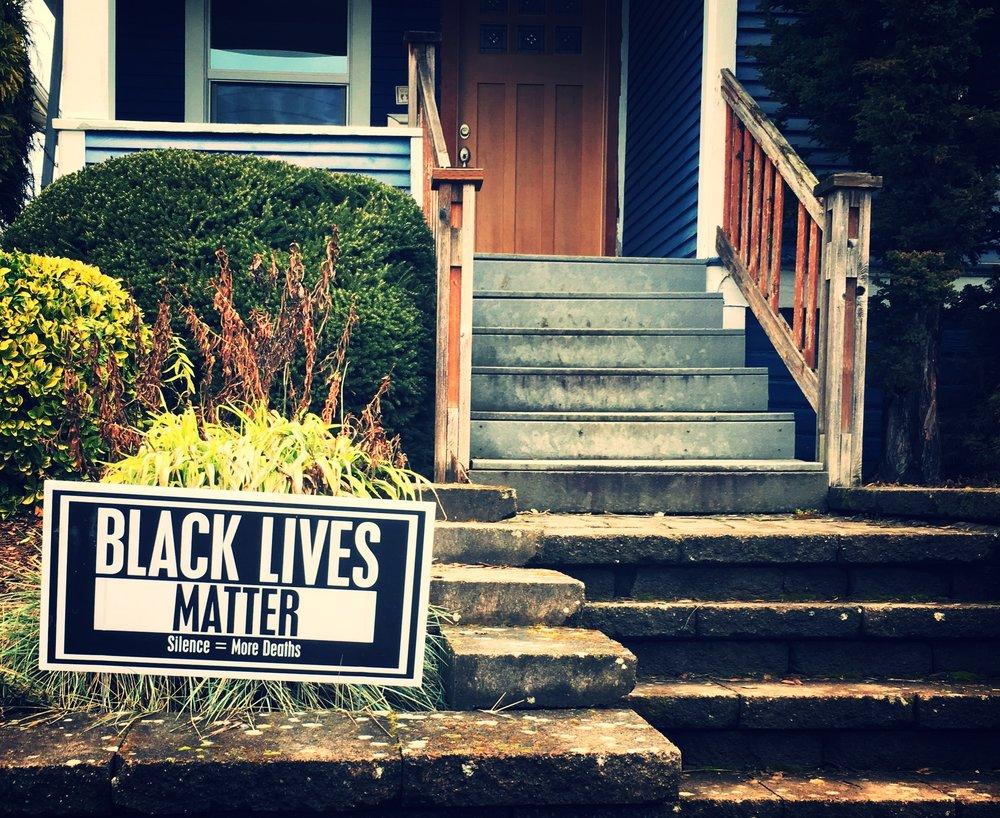 """""""Black Lives Matter""""  """"Silence = More Deaths""""  #blacklivesmatter"""
